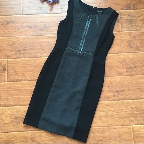 Tahari Dresses & Skirts - Tahari Arthur Levine black dress faux leather 4